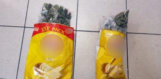 Marihuana ukryta w paczkach po czipsach