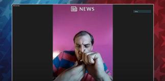 Odpalił fajkę podczas debaty